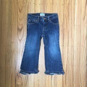 Flare Ruffle Jeans